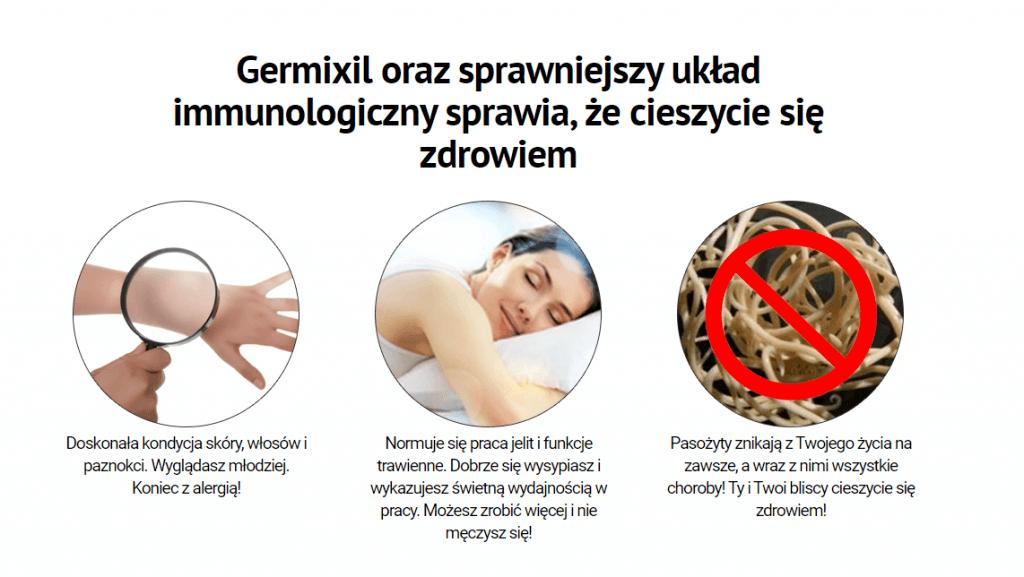 germixil działanie efekty